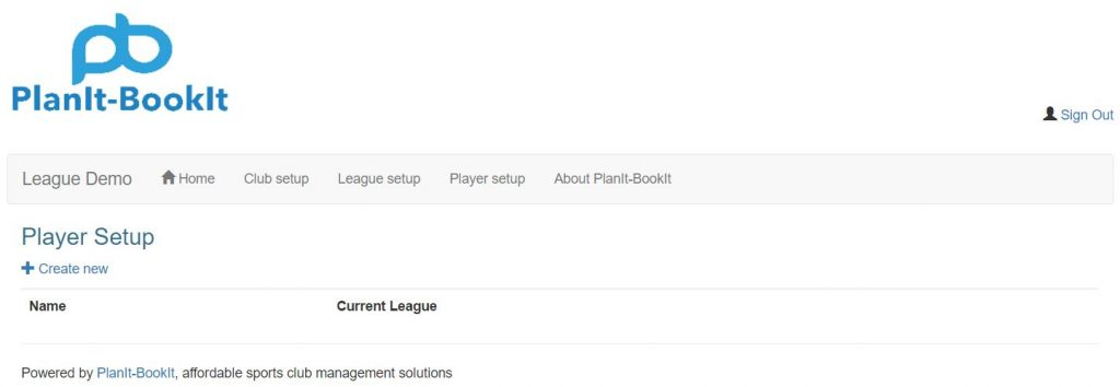 Click Player setup from the main menu navigation. From the Player Setup screen next click on the + Create new link.