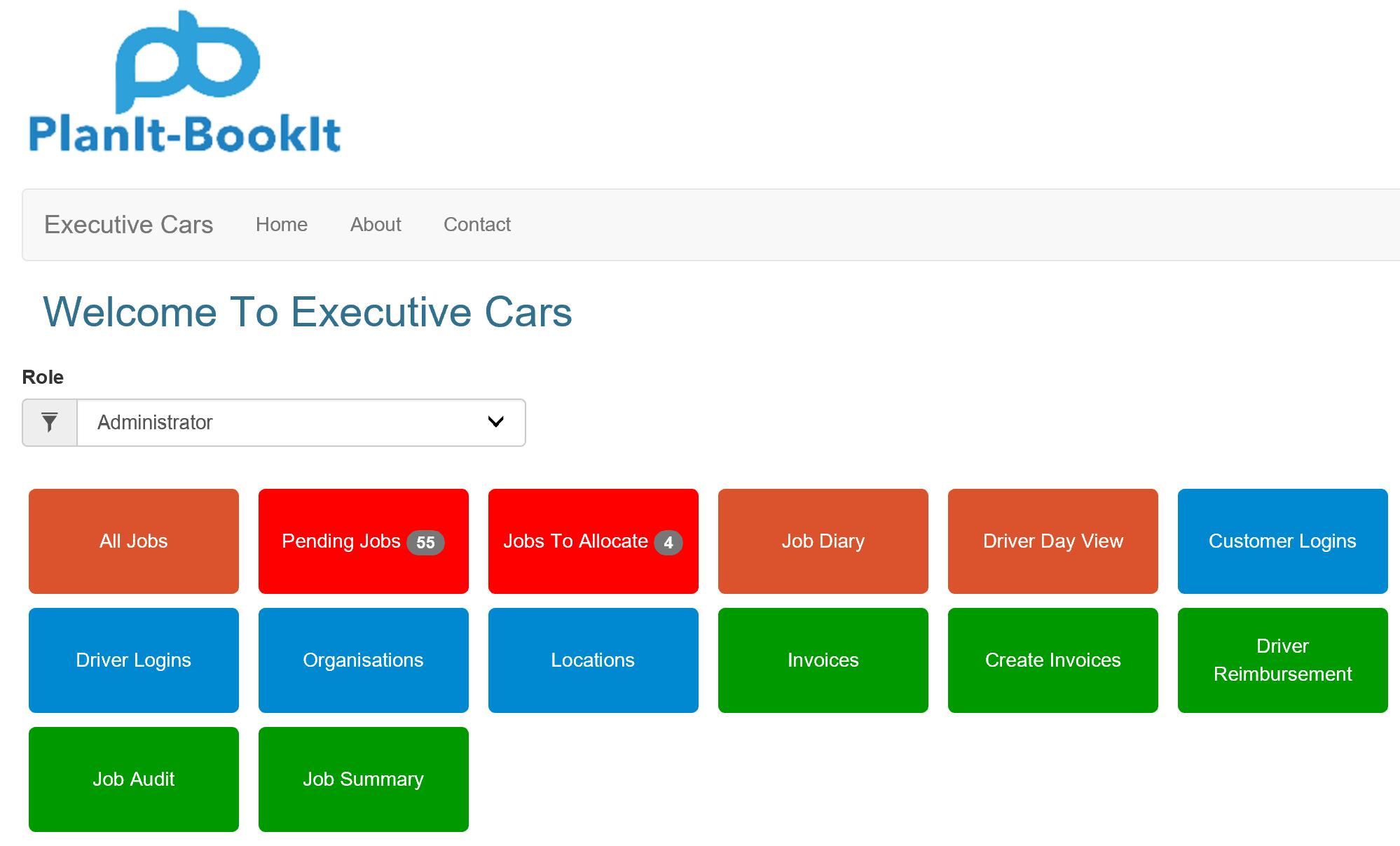 executive-car customer menu